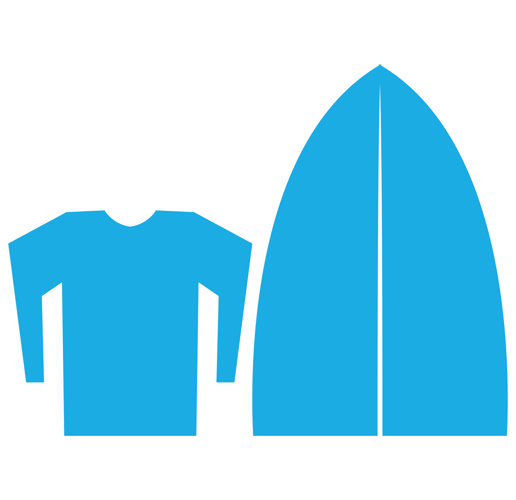 Surf gear: surf board and lycra